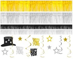 Black/Silver/Gold Giant Room Decorating Kit, 28pc