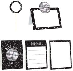 Disco Ball Drop Mini Buffet Decorating Kit, 12ct