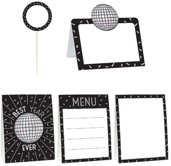 Disco Ball Drop Mini Buffet Decorating Kit, 12ct