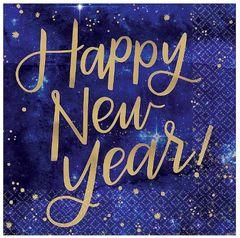Midnight New Year's Eve Beverage Napkins, 16ct