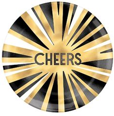 """Cheers Plastic Coupe Plates, 7 1/2"""" - 4ct"""