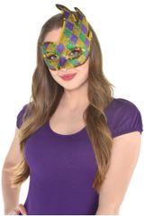 Glitter Harlequin Mardi Gras Party Masquerade Mask