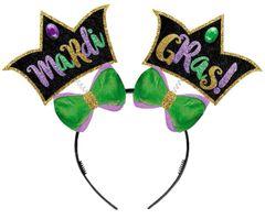 Glitter Mardi Gras Head Bopper