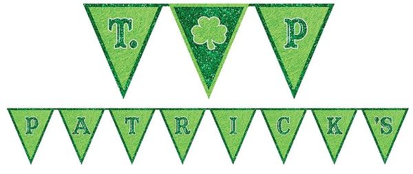 St. Patrick's Day Pennant Banner, 10ft