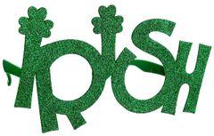 Green Glitter Irish Glasses