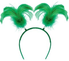 Green Feather Head Bopper