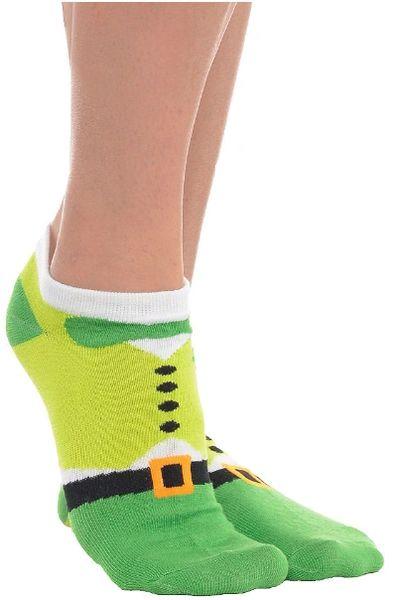 St. Patrick's Day No Show Socks - Leprechaun