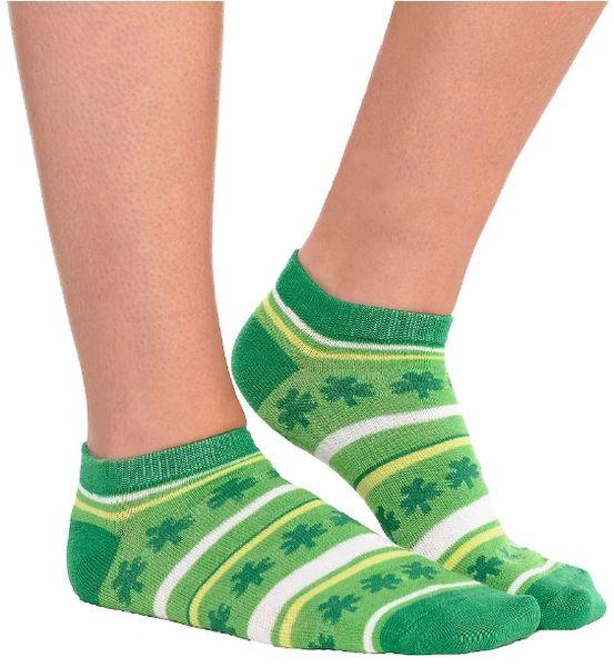 St. Patrick's Day No Show Socks - Striped