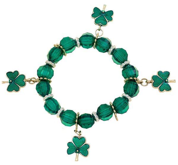 St. Patrick's Day Plastic Stretch Bracelet