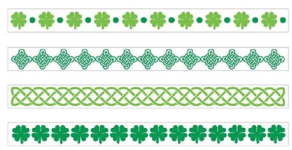 St. Patrick's Day Tattoo Bracelets, 2 Sheets