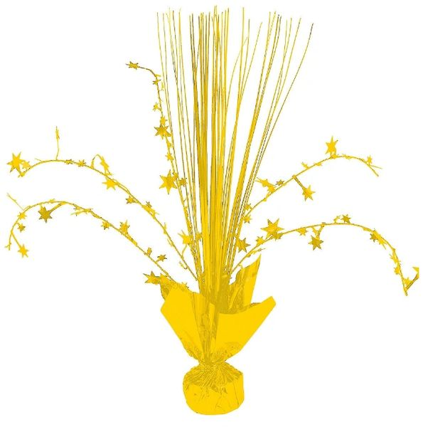Yellow Sunshine Foil Spray Centerpiece