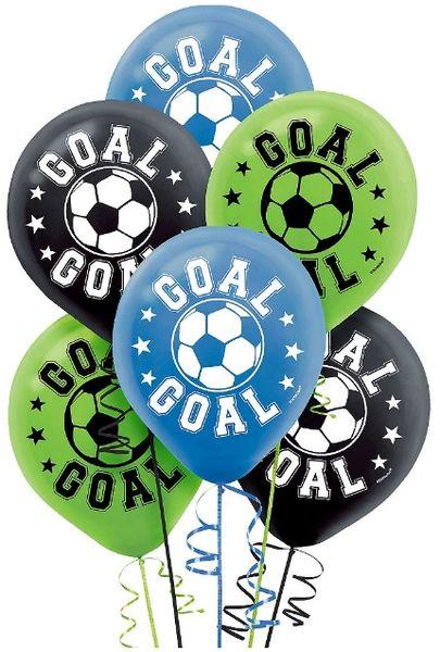 Soccer Latex Balloons, 6ct