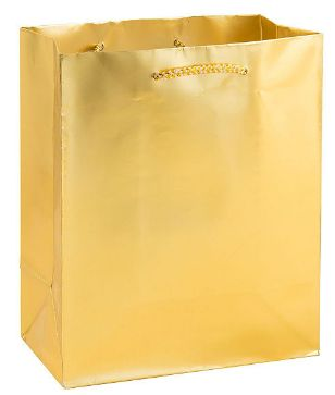 Gold Matte Medium Gift Bag