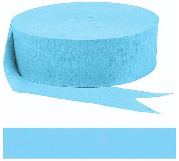 Caribbean Blue Crepe Paper Streamer, 500ft