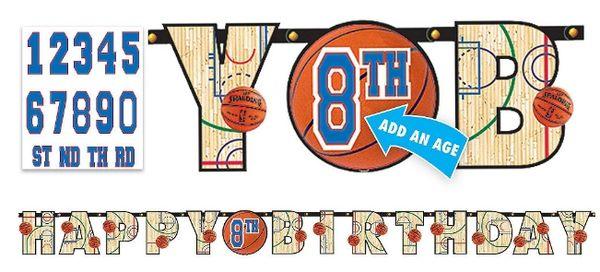 NBA Jumbo Add-An-Age Letter Banner
