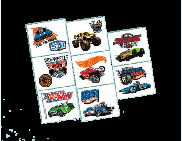 Hot Wheels Wild Racer™ Tattoo Favors, 8ct