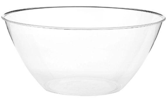 2 Qt. Plastic Bowl - Clear