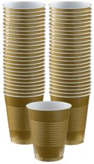 Big Party Pack Gold Plastic Cups, 16 oz - 50ct