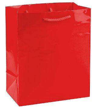 Solid Glossy Red Medium Bag