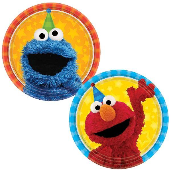 "Sesame Street® Assorted Dessert Plates, 7"" - 8ct"