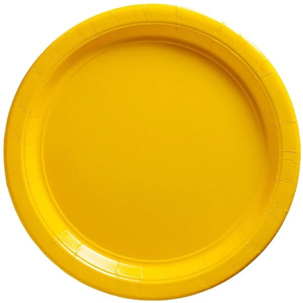 "Sunshine Yellow Paper Plates, 10 1/2"" 20ct"
