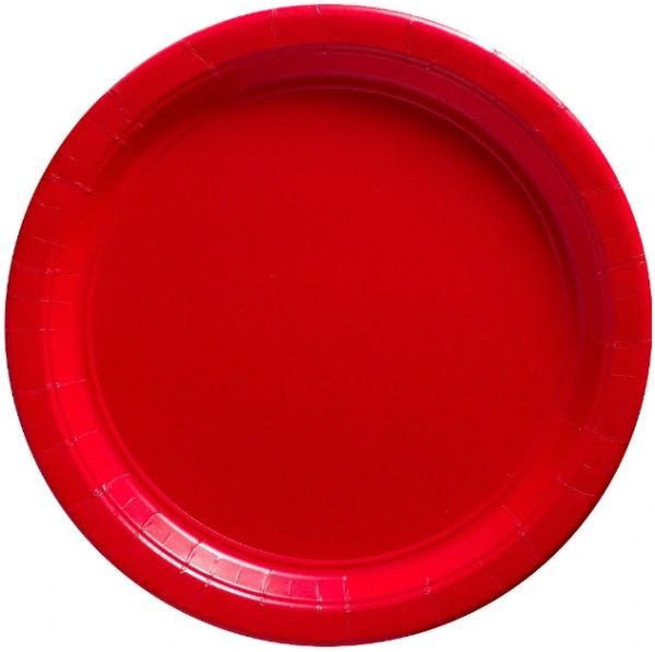 """Apple Red Paper Plates, 10 1/2"""" 20ct"""