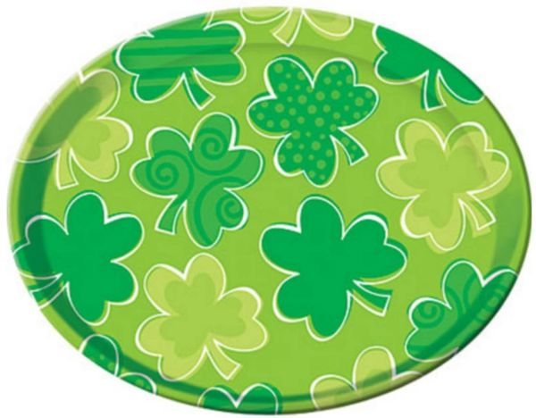 St. Patrick's Day Round Plastic Platter, 13 1/2""