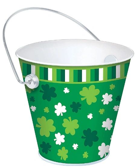 St. Patrick's Day Metal Bucket