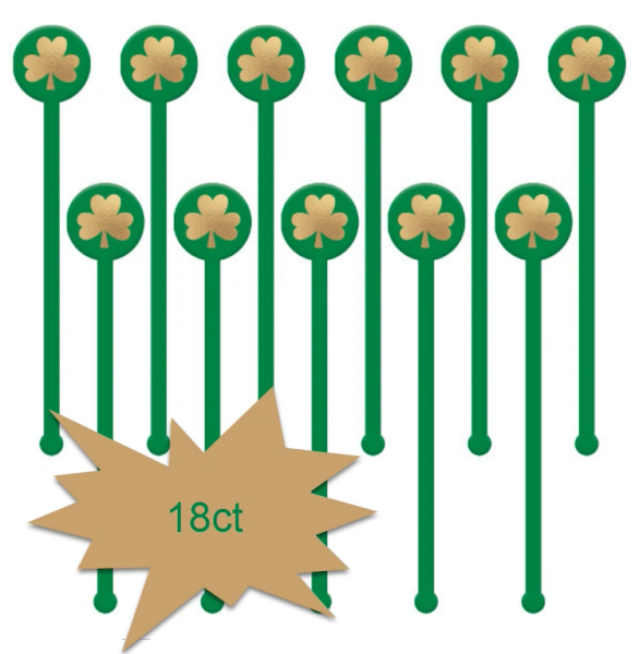 St. Patrick's Day Stirrers, 18ct