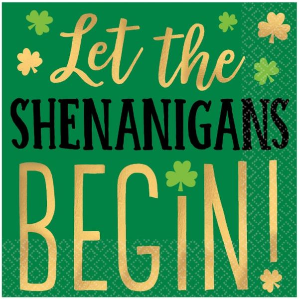 Let the SHENANIGANS BEGIN! Beverage Napkins, 16ct
