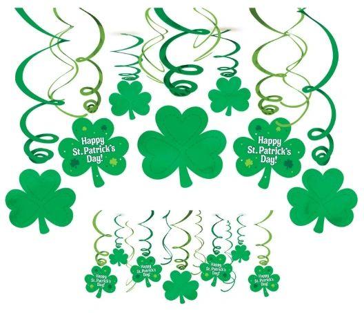 St. Patrick's Day Foil Swirl Mega Value Pack, 30ct