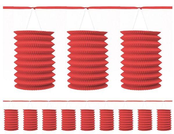 Red Paper Lantern Garland, 12ft