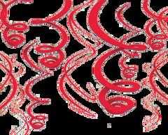 Apple Red Plastic Swirl Decorations, 12ct