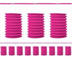 Bright Pink Paper Lantern Garland, 12ft