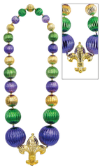 Giant Fleur de Lis Bead Necklace