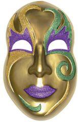 3-D Gold Mardi Gras Mask Decoration