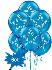 Dallas Cowboys Printed Latex Balloons, 6ct