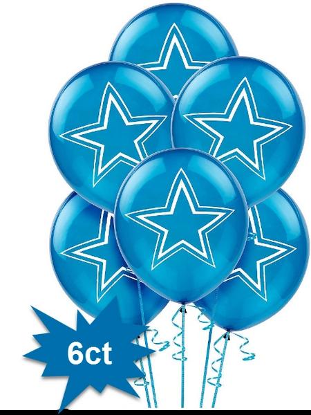 Dallas Cowboys Latex Balloons, 6ct