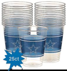 Dallas Cowboys Plastic Cups, 16oz - 25ct
