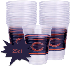 Chicago Bears Plastic Cups, 25ct