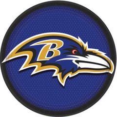 "Baltimore Ravens 9"" Round Plates, 8ct"