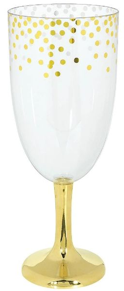Hot-Stamped Tall Plastic Round Pedestal - Gold