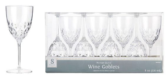 Crystal Look Wine Glasses - Clear, 8 oz - 8ct