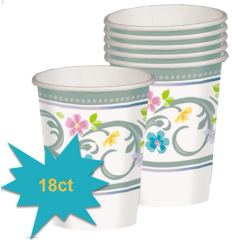 Blessed Day Religious Cups, 9oz - 18ct