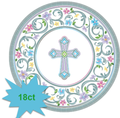 "Blessed Day Religious Dinner Plates, 10 1/2"" - 18ct"