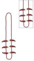 Chili Pepper Bead Necklace