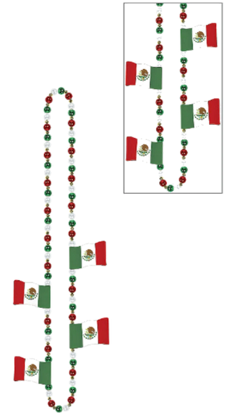 Mexican Flag Bead Necklace
