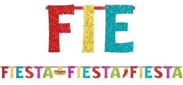Glitter Fiesta Letter Banner, 12ft