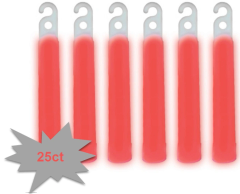 "4"" Glow Stick Mega Value Pack - Red, 25ct"