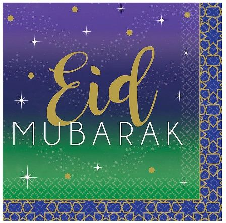 EID Celebration Beverage Napkins, 16ct